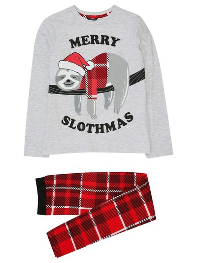 Teen Merry Slothmas Christmas pyjamas