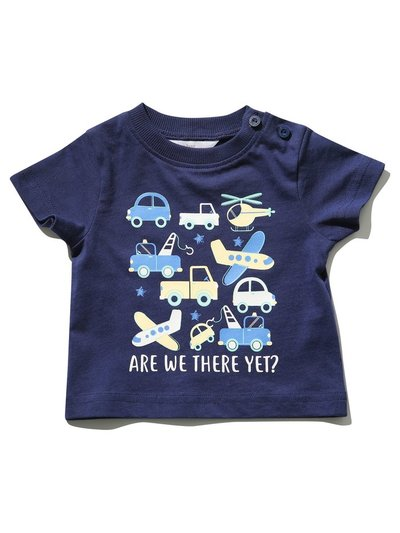 Are we there yet slogan t-shirt