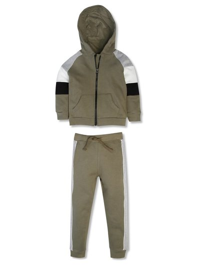 Colourblock sweat and jogger set (3-12yrs)