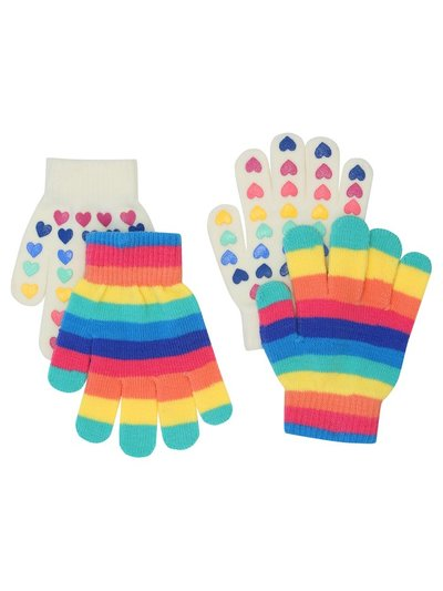 Rainbow heart magic gloves two pack