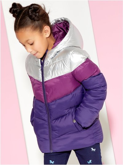 Colour block padded jacket (3 - 12 yrs)