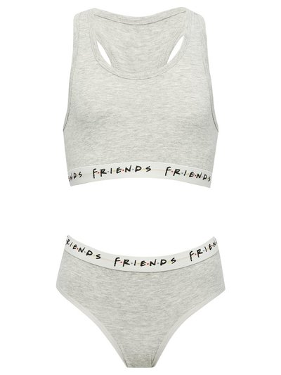 Friends racer back bra and brief set