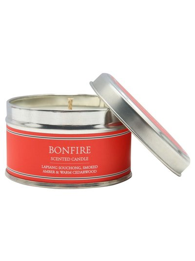Bonfire scented tin candle