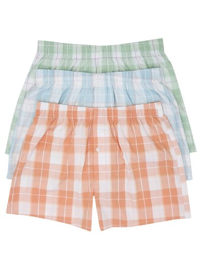 Check woven boxers three pack