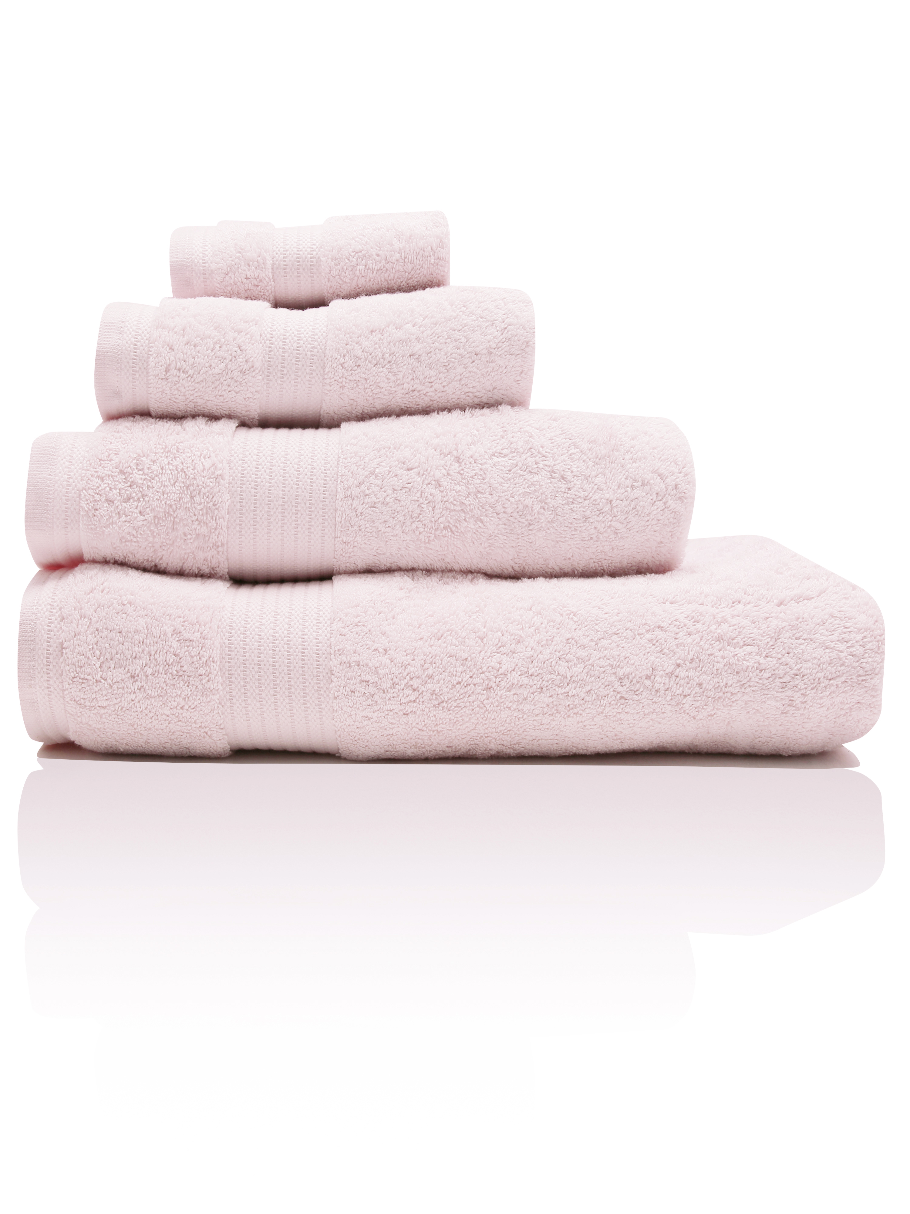 Pink Combed Cotton Towels