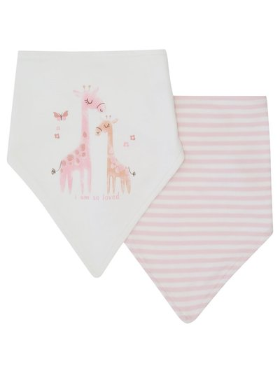 Striped animal bibs two pack