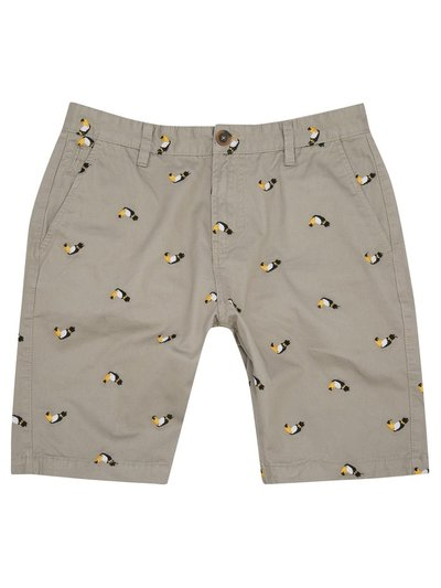 Toucan embroidered shorts