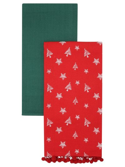 Christmas tea towels two pack