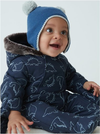 Dino snowsuit (newborn-24mths)