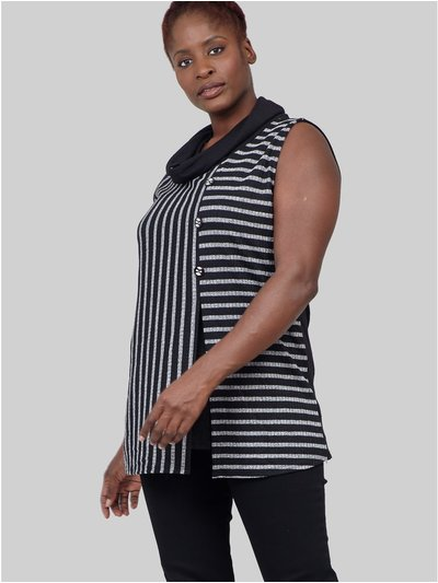 Izabel Curve striped knit tunic top