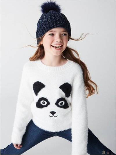 Fluffy panda jumper (3-12yrs)