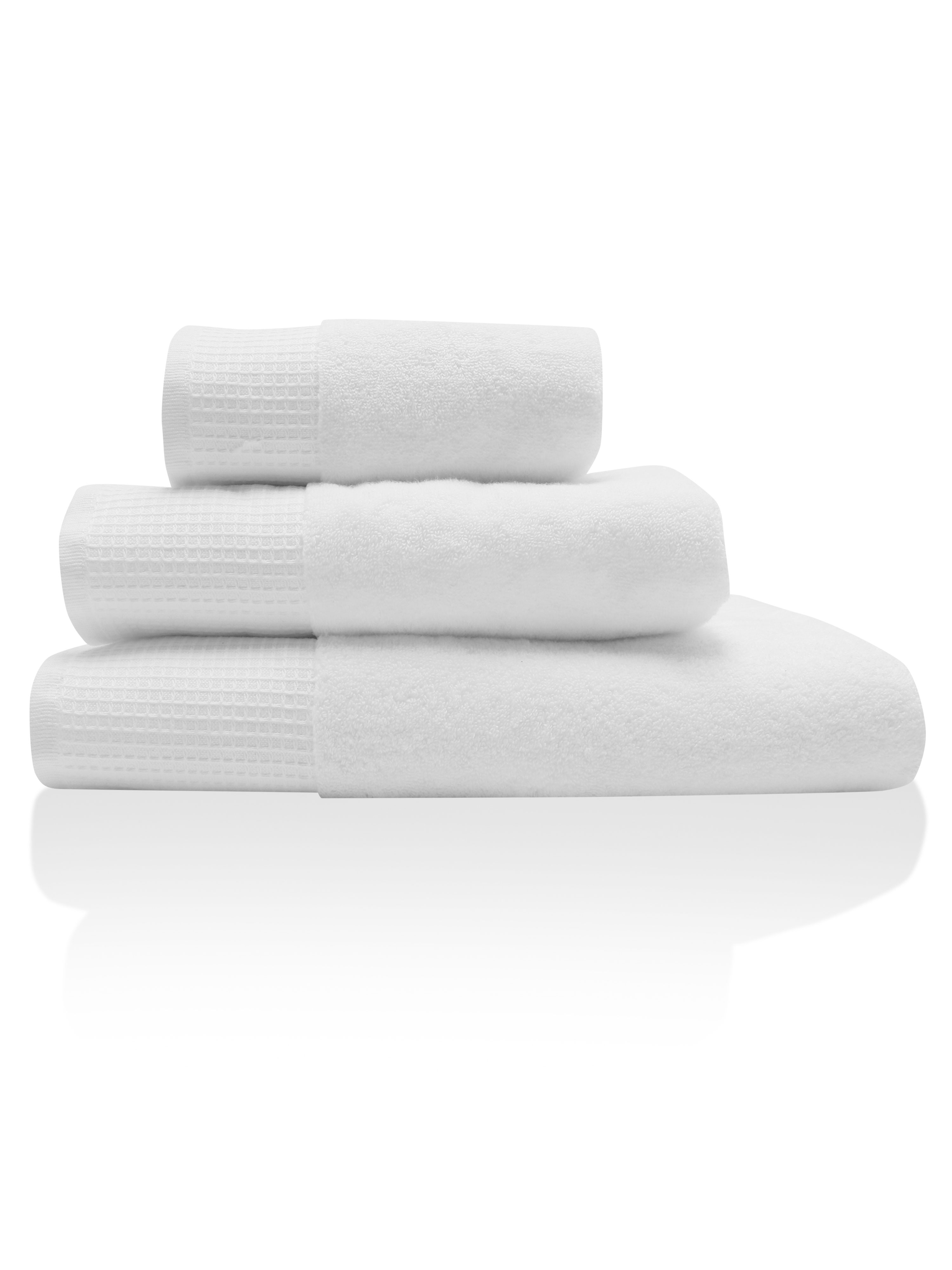 White waffle towels