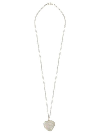Diamante heart pendant necklace
