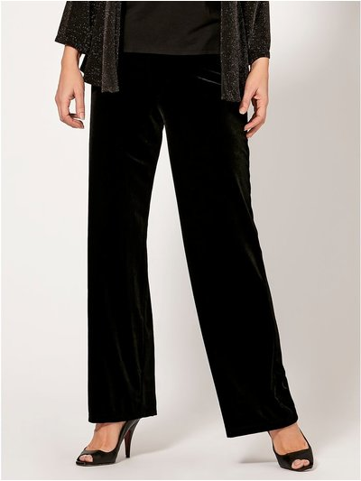 Spirit velvet wide leg trousers
