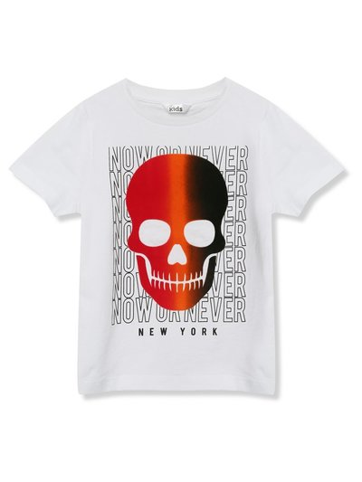 Slogan skull t-shirt (3 - 12 yrs)