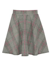 Teens' check skater skirt