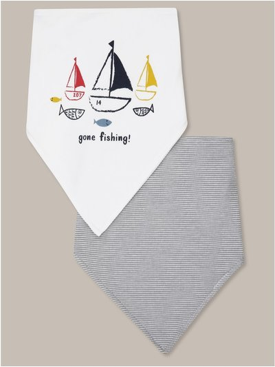 Gone fishing bib two pack