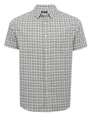 Grid check shirt sleeve shirt