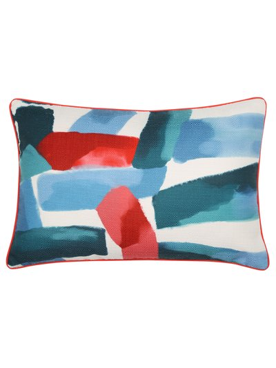 Paint stroke print cushion