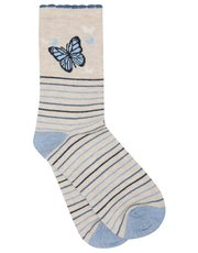 Butterfly and stripe socks