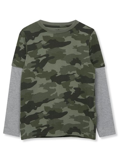 Long sleeve camo t-shirt (3-12yrs)