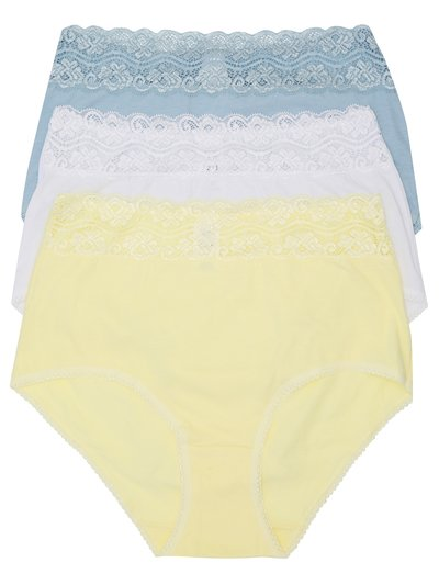 Lace full briefs multipack