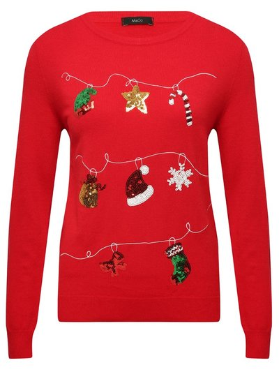 Christmas decorations sequin jumper