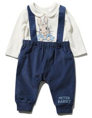 Peter Rabbit bodysuit and cord trousers with braces set