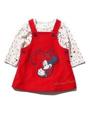 Minnie Mouse cord dress and bodysuit set