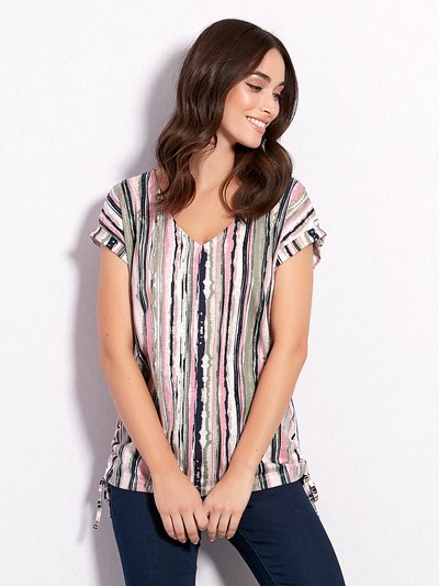 Stripe v neck t-shirt