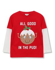 Pudding Christmas t-shirt (9mths-5yrs)