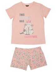 Teens' cat print pyjamas