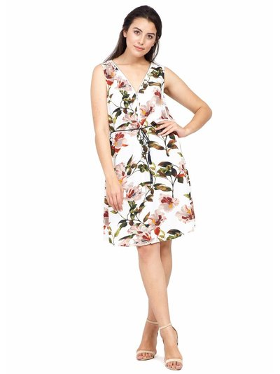 Izabel Curve floral zip neck dress