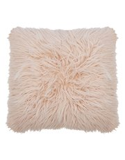 Faux mongolian fur cushion