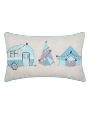 Applique camping cushion