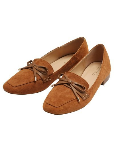 Faith square toe bow tie loafer