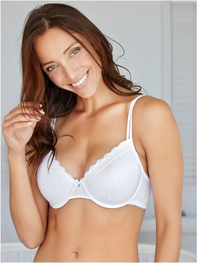 Padded squares underwire bra
