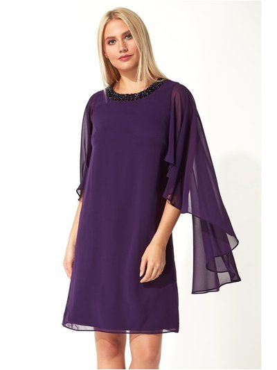 Roman Originals embellished trim chiffon dress