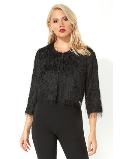 Roman Originals cropped fringe detail jacket