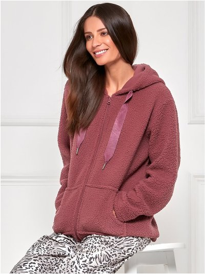 Borg zip front lounge fleece