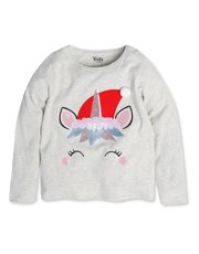 Unicorn Christmas top (3-12yrs)
