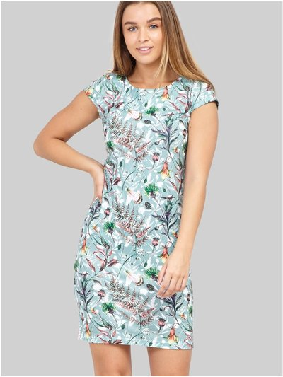 Izabel botanical print bodycon dress