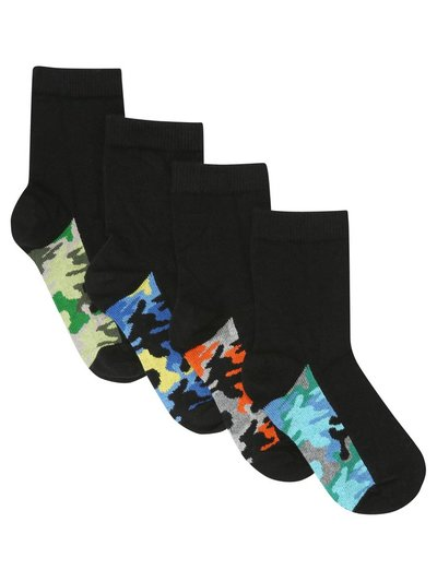 Camo sole socks four pack