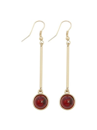 Muse red bead drop earrings