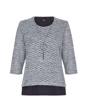 TIGI double layer knitted jersey crew