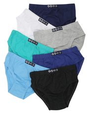 Plain briefs seven pack (2-12yrs)