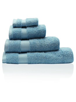 Aqua Blue Combed Cotton Towels