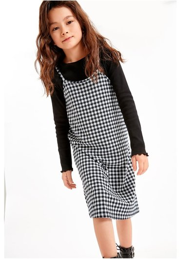 Gingham top and dress set (3-12yrs)