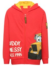 JCB muddy and messy slogan hoody