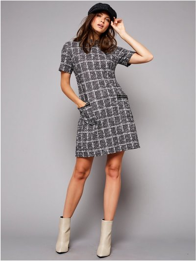 Petite chain pocket shift dress